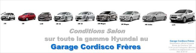 conditions salon sur la gamme hyundai Cordisco