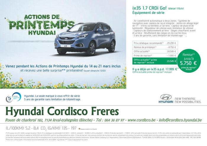 Hyundai actions printemps ix35