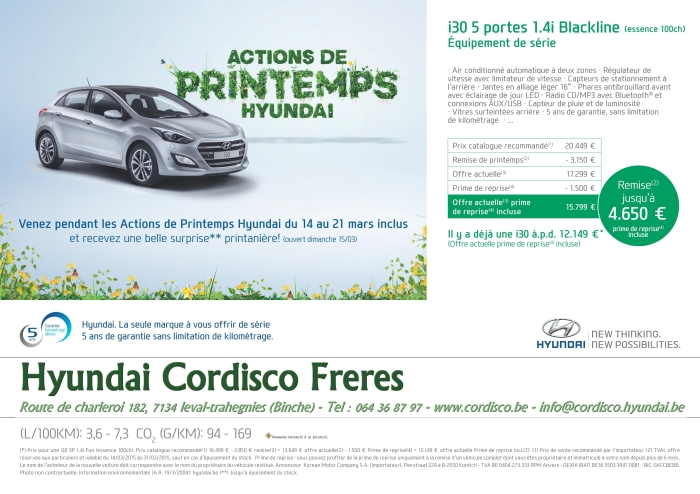 Hyundai actions printemps